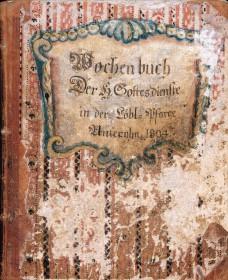 1804-Deckblatt dess Wochenbuches